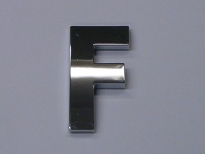 chrome letters f