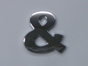 chrome letters ampersand